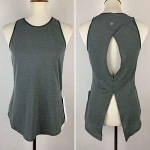 Lululemon Open Up Tank in Heathered Camo Green 4